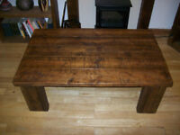 New reclaimed timber large coffee table.