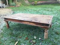 Wooden coffee table with lead detail