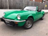 Triumph Spitfire 1500 1976 Tax exempt