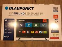 "Blaupunkt BRAND NEW 43"" FULL HD LED SMART TV LCD"