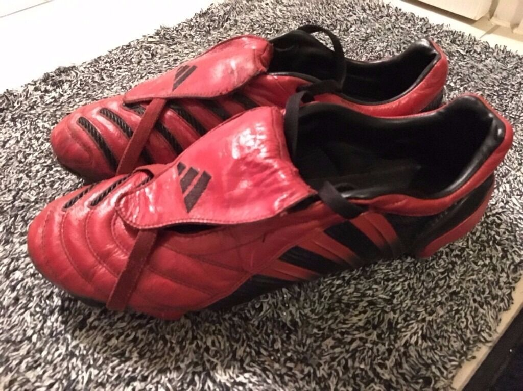 ... netherlands adidas predator pulse red black fg uk10 limited edition  2004 football boots 44567 fa305 36d2495f019bf