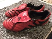 Adidas Predator Pulse Red/Black FG UK10 Limited Edition (2004) Football Boots