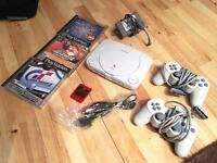 PS One with 2 Controllers / 3 Games - PlayStation 1