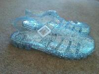 Sparkly jelly shoe