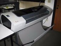 hp t1100 44 ins printer breaking , please contact for parts