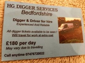 **DIGGER & DRIVER FOR HIRE**