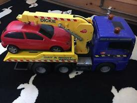 Recovery truck and car