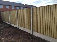 Pressure Treated Straight Top Feather Edge Wooden Fence Panels 🌳