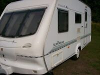 elddis slipstream xl plus 2003 4 berth lightweight van only 930kg full new awning top condition