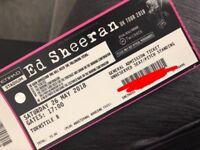 X2 standing ed sheeran tickets