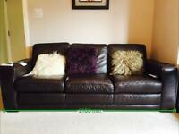 Two Leather Settees FREE OF CHARGE PICK UP ONLY