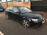 2007 07 AUDI A3 2.0 TDI S-LINE 6 SPEED MANUAL LIGHT DAMAGE/SALVAGE REPAIRABLE CAT D