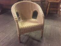 Small wicker chair perfect for kids