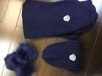 Moncler hat and scarf set