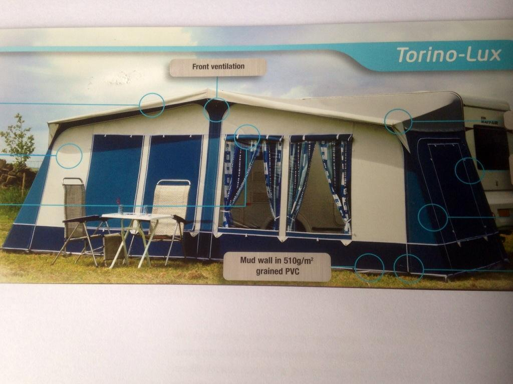 Away Daze Torino Lux Awning With Tall Annexe In Blue Size