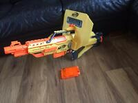 Nerf stampede ECS Gun with shield