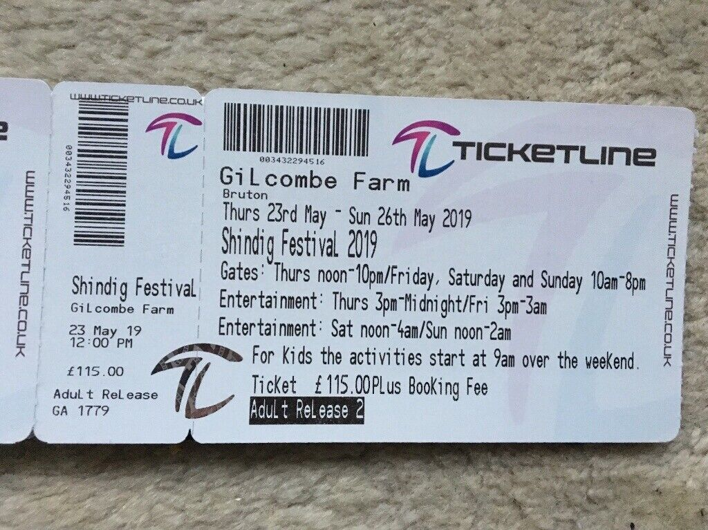Shindig festival tickets pair for best event ever !! 23-26th May | in  Knowle, Bristol | Gumtree