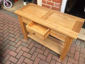 Oak side board with drawer