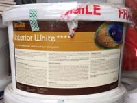 4no 10L Aglaia Stone White (off-white) Natural Non Toxic Breathable Interior Paint Unopened
