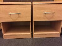 2 oak effect bedside cabinets / tables. Both are in new condition.