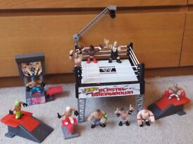 WWE Wrestling Rumblers Ring, Figures and Accessories