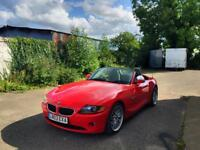 BMW Z4 2.5i in rare imola red