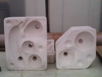TWO CERAMIC SLIP MOULDS OF FRUIT LIFE SIZE