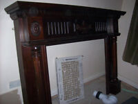 Very Good Condition Maghonay Fireplace
