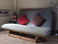IKEA Natural Wooden Double Futon Sofa Bed