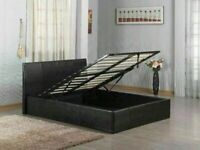 👌👌 BRAND NEW FAUX LEATHER SINGLE/DOUBLE/KINGSIZE OTTOMAN STORAGE BED FRAME WITH MATTRESS OF CHOICE