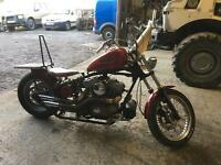 Harley sportster hardtail chop 1200