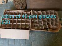 Joblot 45 pint glasses free delivery in Leicester