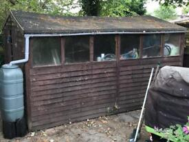 LARGE GARDEN WOODEN SHED 12' X 8'