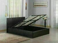 BRAND NEW FAUX LEATHER SINGLE/DOUBLE/KINGSIZE OTTOMAN STORAGE BED FRAME WITH CHOICE OF MATTRESS💥💥