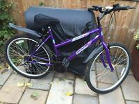 "Ladies 18"" flame bike bicycle. FREE lights & FREE delivery. D lock available"