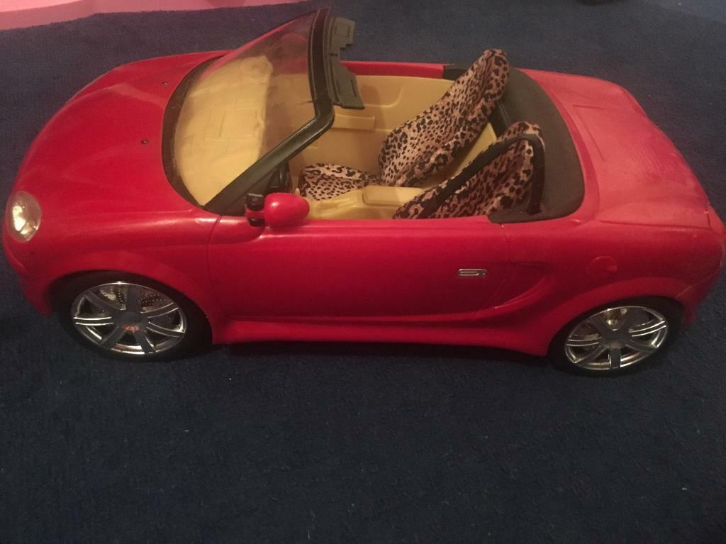 Barbie doll car