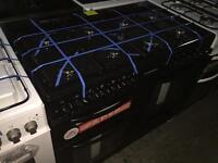 **SUPER SALE** New Graded Cookworks 100cm Dual Fuel Range Cooker - Black