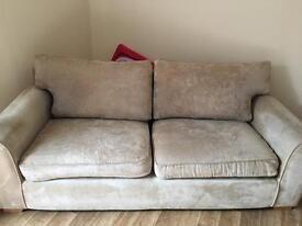Two cream 3 seater Next sofas
