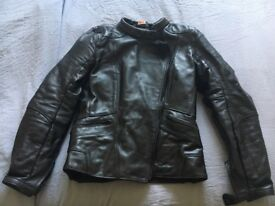 Ladies Leather Motorcycle Jacket, size S