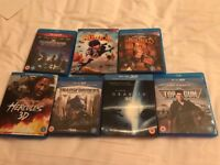 7 3D Blu-ray Films. Hardly used.please see image.£40 NO OFFERS.CAN DELIVER