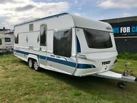 2007 FENDT 590/4 TWIN AXLE *FIXED BED* TOURING CARAVAN