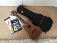 Laka Ukulele with Padded Case and Books