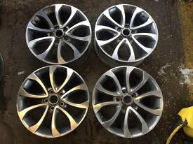 "17"" GENUINE NISSAN JUKE S ALLOY WHEELS SET OF 4"