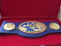 EBU full size championship boxing belt