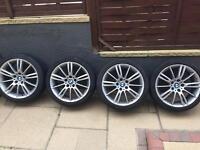Genuine Bmw mv3 18 inch alloys wheels