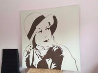 LADY Canvas Wall Art Large SIZE 90x90cm