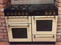 LEISURE RANGEMASTER 110 ELECTRIC DUEL COOKER OVEN CREAM HOB GRILL GRIDDLE 110CM