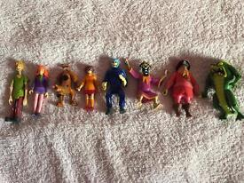 8 Scooby Doo moveable character toys Christmas