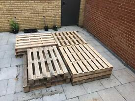 11 wooden Pallets free