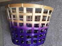 Small wicker laundry basket/toy holder
